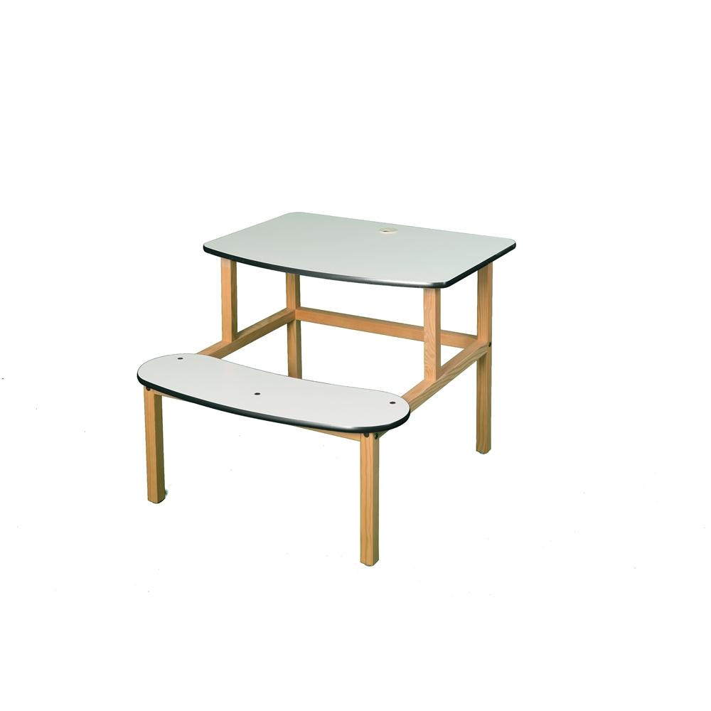 Student Desk, White/Green. Picture 1