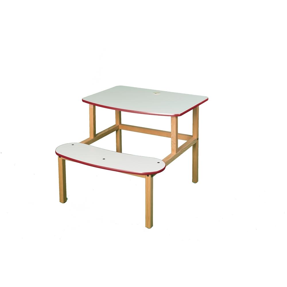 Student Desk, White/Red. Picture 1