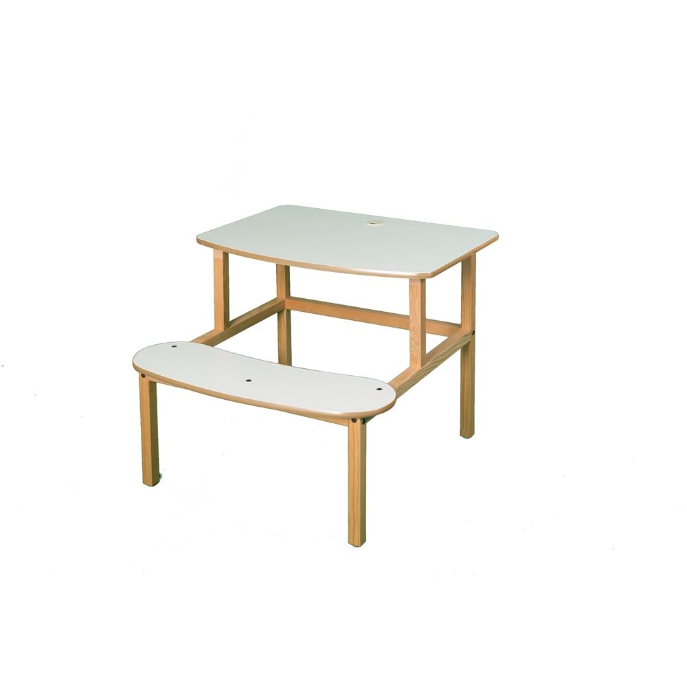Student Desk, White/Tan. Picture 1