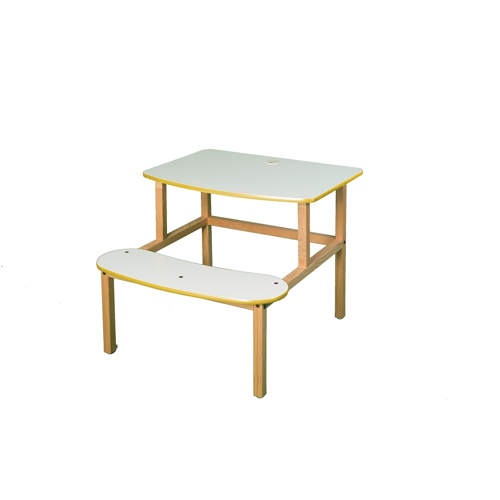 Student Desk, White/Yellow. Picture 1