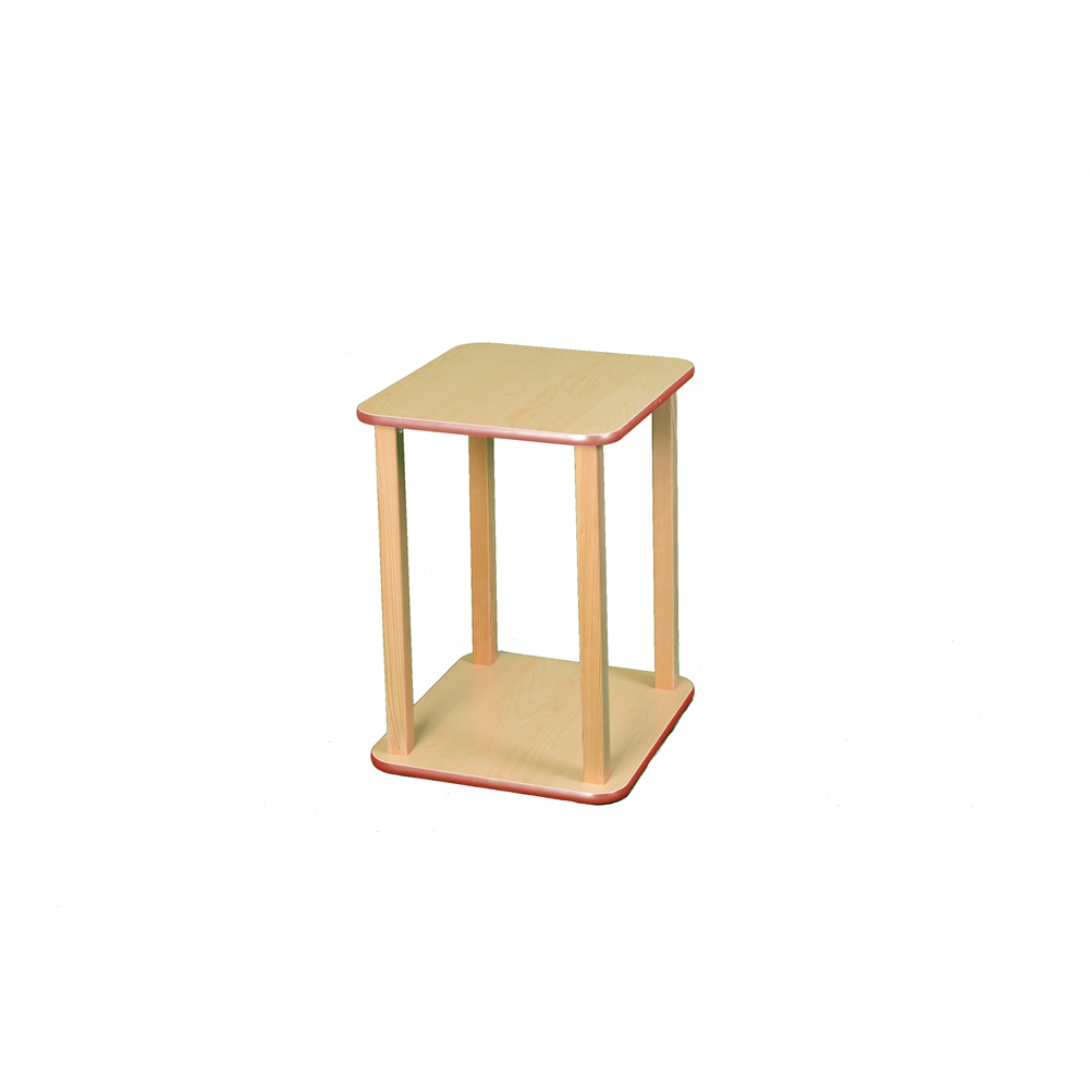 CPU/Printer stand, Maple/Red. Picture 1