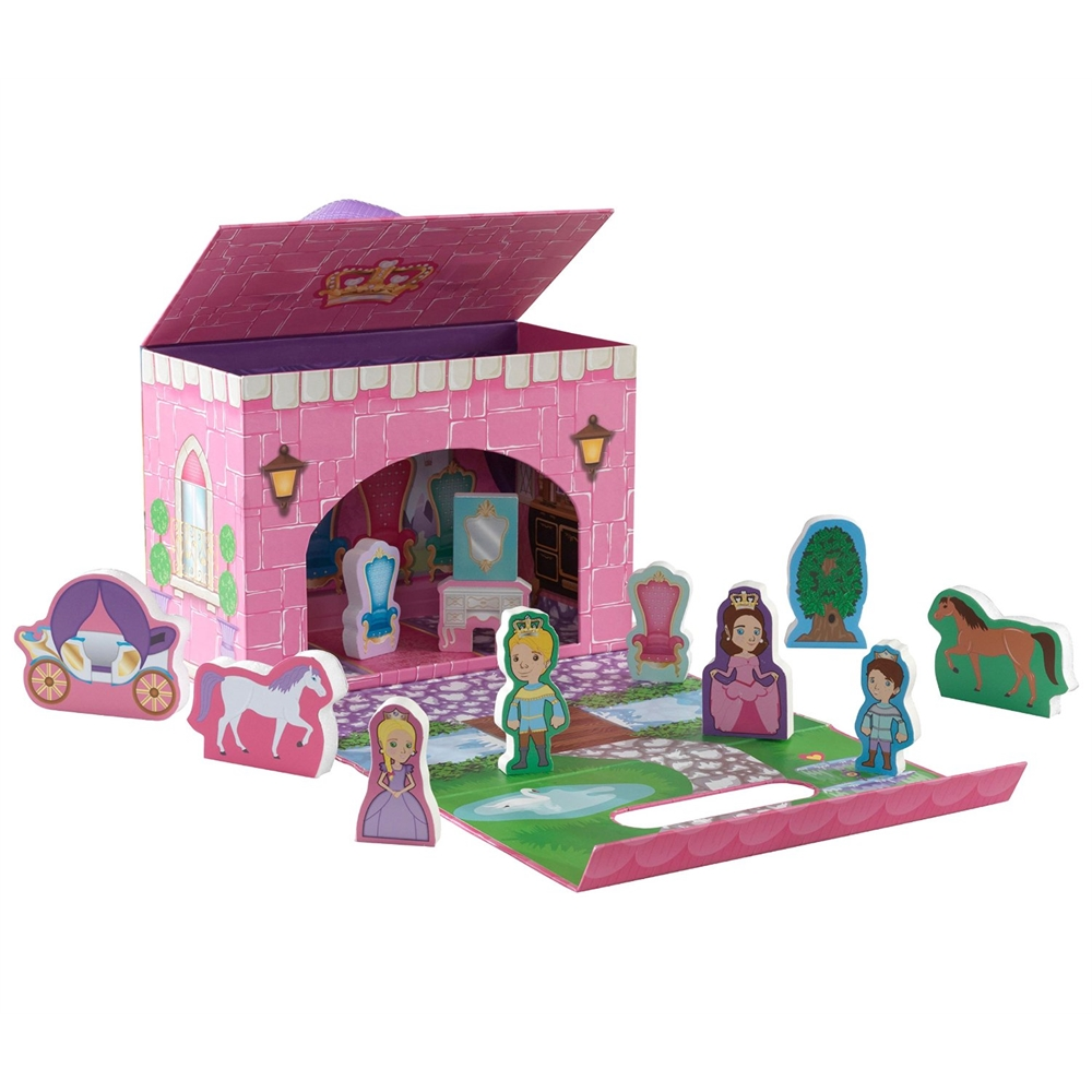 Kidkraft travel box play set fairytale princess for Furniture 63385