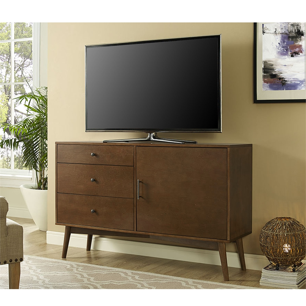 Angelo Home 52 Quot Mid Century Tv Console Walnut