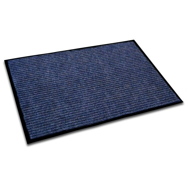 "Doortex Ribmat, Indoor Entrance Mat, Blue, Rectangular, Size 24"" x 36"". Picture 1"