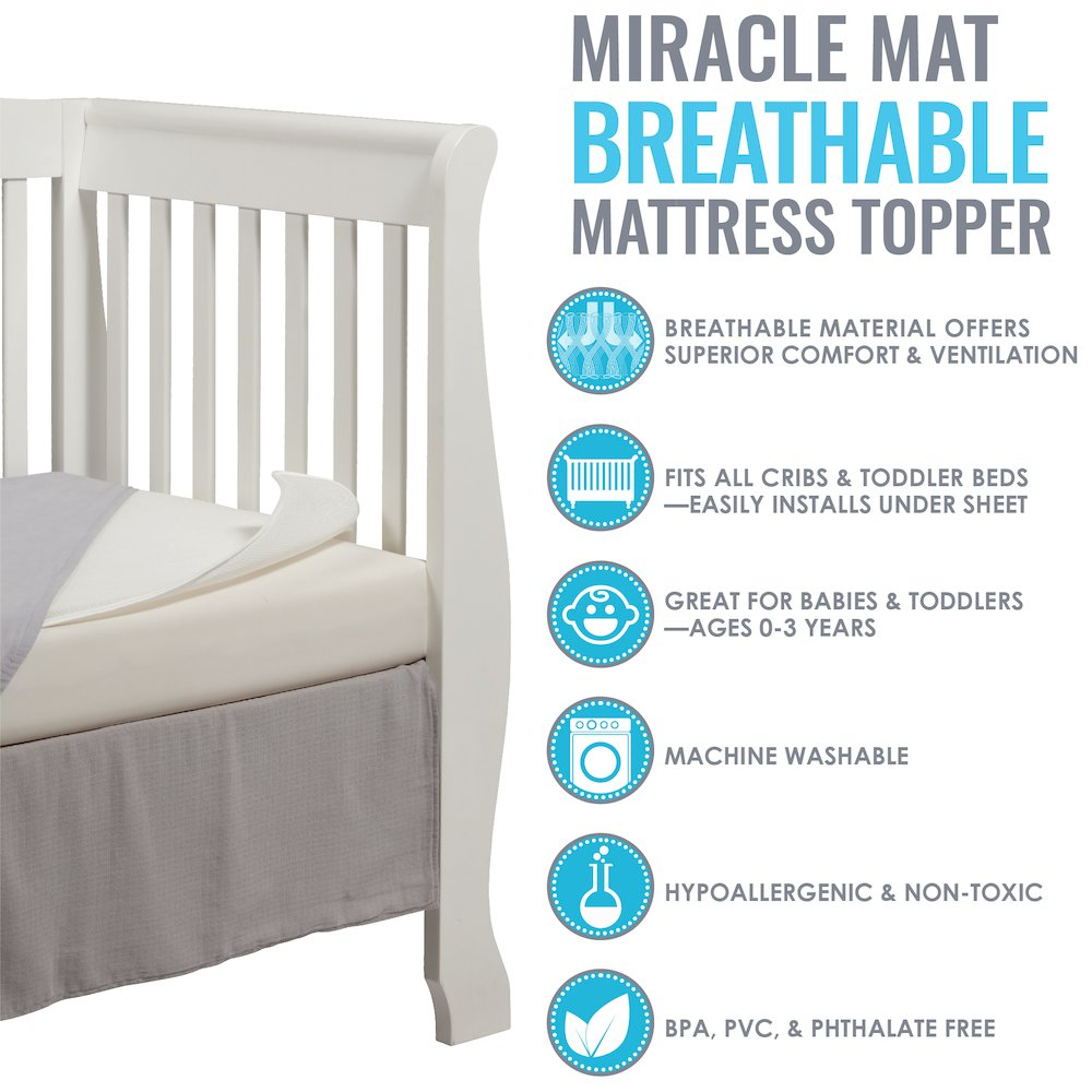 LA Baby Breathable Miracle Mat - Superior Ventilation Crib MattressTopper. Picture 4
