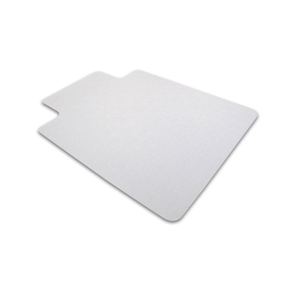 """Cleartex Ultimat Chair Mat, Rectangular With Lip, Clear Polycarbonate, For Hard Floor, Size 48"""" x 60"""". Picture 1"""