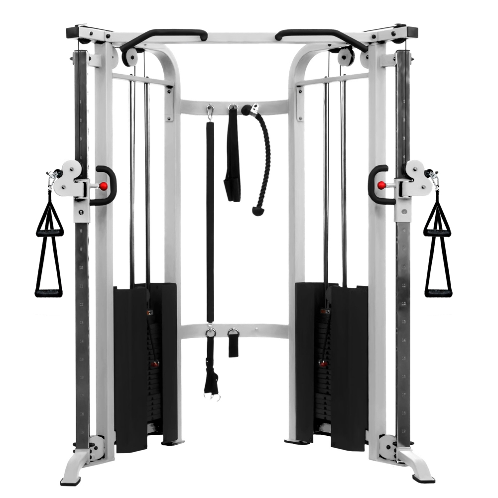 Functional Trainer Cable Machine With Dual 200 Lb Weight