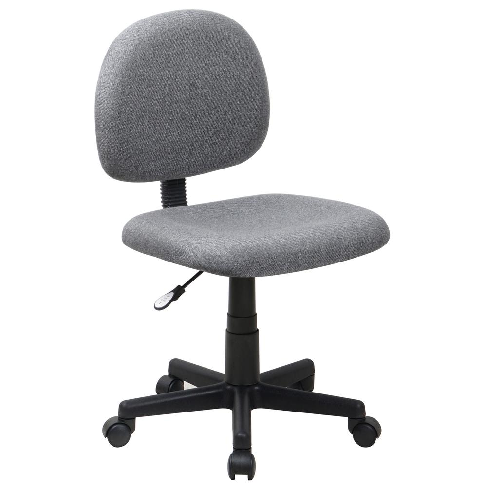 Mid Back Gray Fabric Swivel Task Office Chair