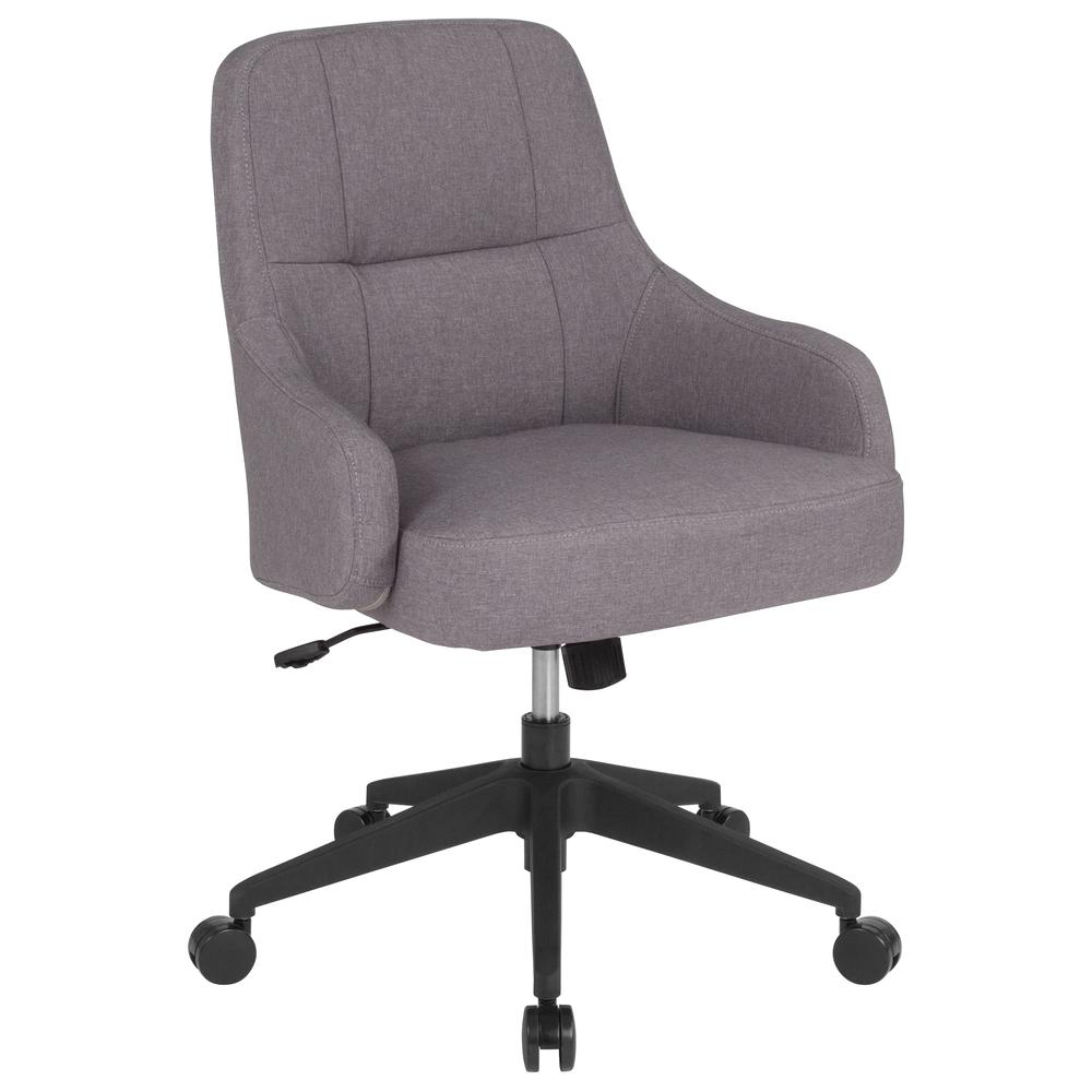 Home And Office Panel Tufted Upholstered Mid-Back Chair