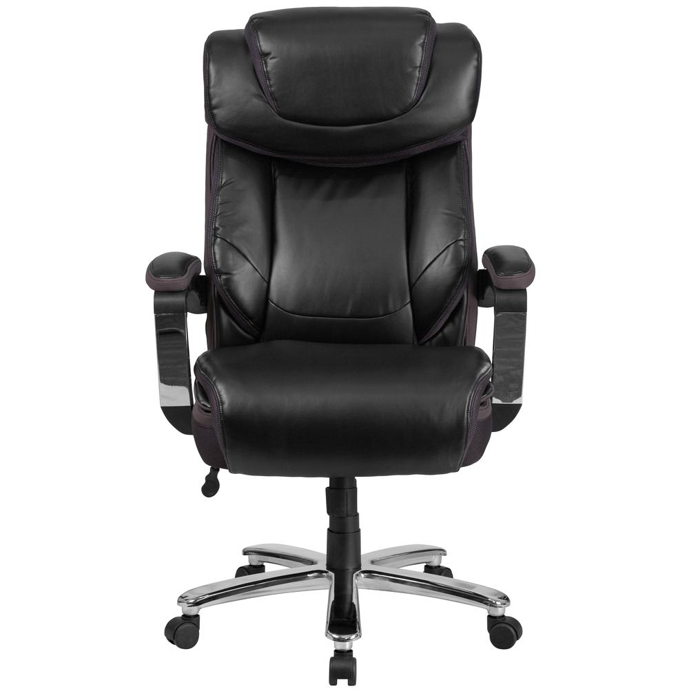 Big & Tall 500 lb. Rated Black LeatherSoft Executive Swivel Ergonomic Office Chair with Adjustable Headrest