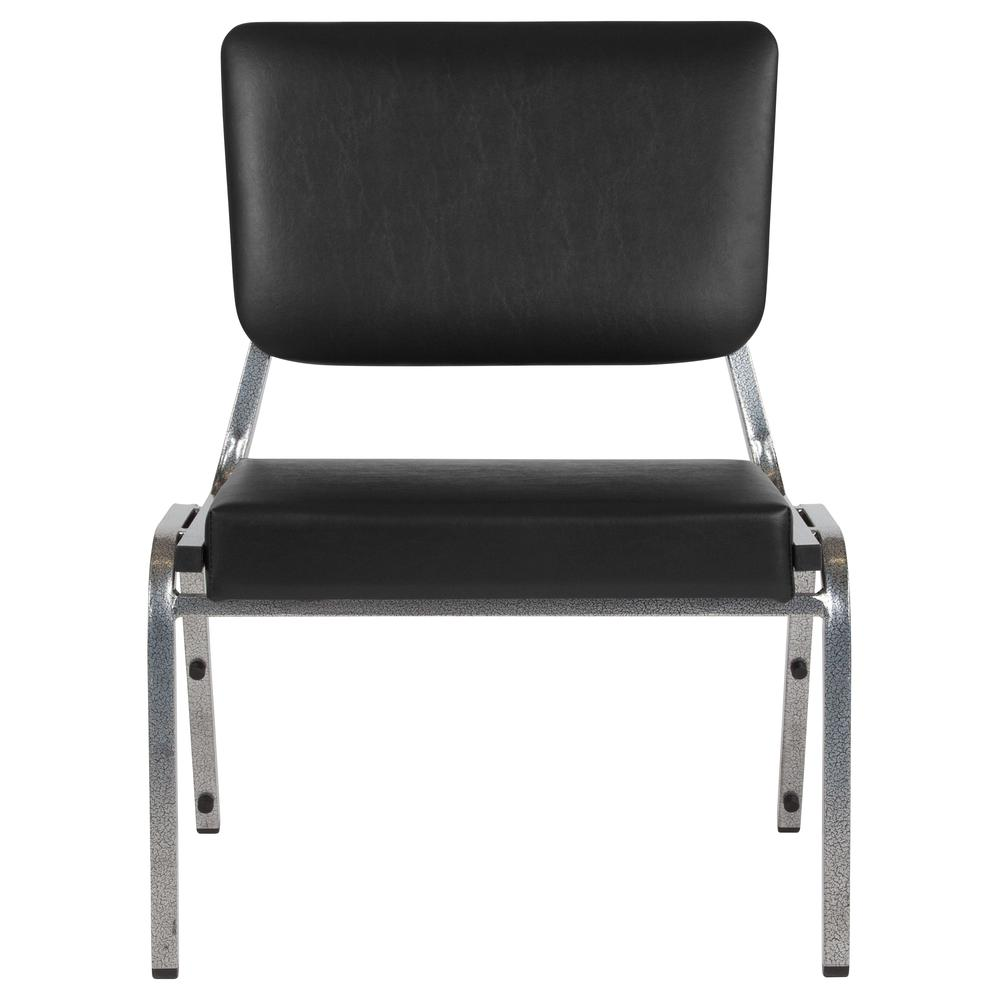 1500 lb. Rated Black Antimicrobial Vinyl Bariatric Medical Reception Chair with 3/4 Panel Back
