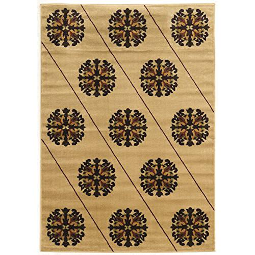 Ellegance  Armor Brown beige C Rug, Size 2' X 3'. Picture 1