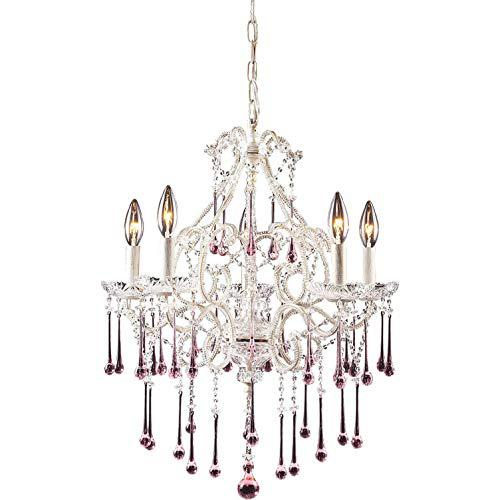Opulence Rose Crystal Set For 5 Light Chandelier. The main picture.