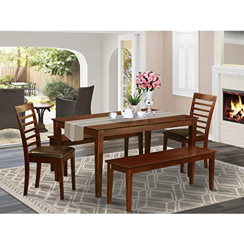 5  PC  Dining  room  set-Dining  Table  and  2  Chairs  and  2  Benches. Picture 1