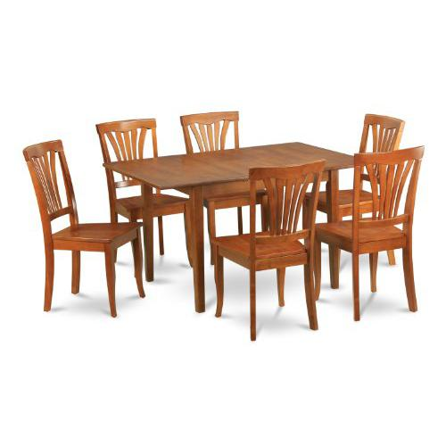 7  Pc  Kitchen  nook  Dining  set-small  Dining  Tables  and  6  Kitchen  Chairs. Picture 1