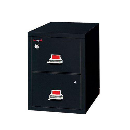 2 Drawer Legal Safe-In-A-File Cabinet, Pewter. Picture 1