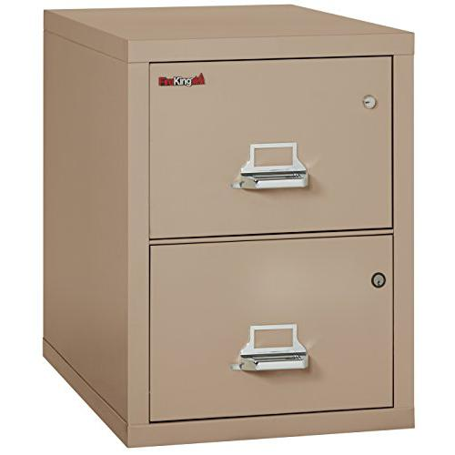 2 Drawer Legal Safe-In-A-File Cabinet, Tan. Picture 1