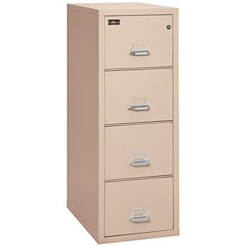 """4 Drawer Legal Size Filling Cabinet, 32"""" depth, Champagne. Picture 1"""