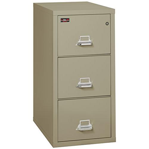 "3 Drawer Letter Size Filling Cabinet, 31"" depth, Pewter. Picture 1"