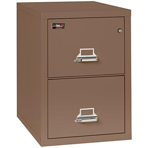 "2 Drawer Legal Size Filling Cabinet, 32"" depth, Tan. Picture 1"