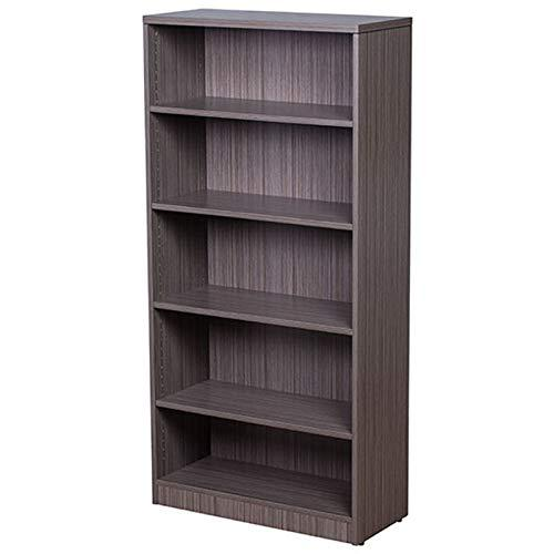 Boss Bookcase, 31W X14D X 65.5H Driftwood. Picture 1