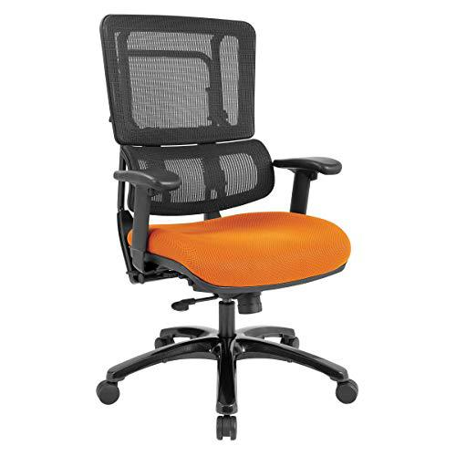 Vertical Black Mesh Back Chair with Shiny Black Base. Picture 1