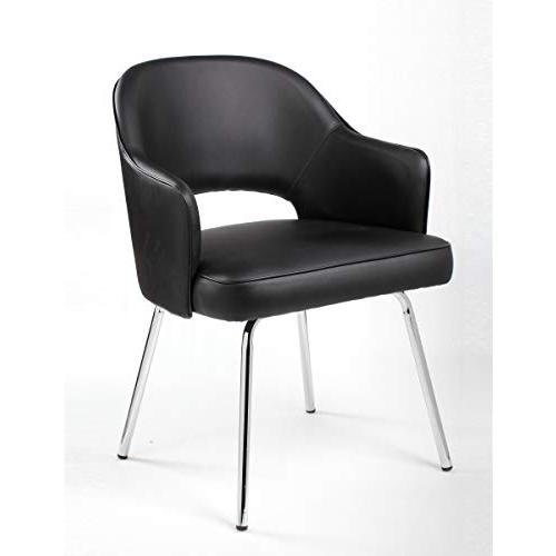 Black CaressoftPlus Guest Chair. Picture 1