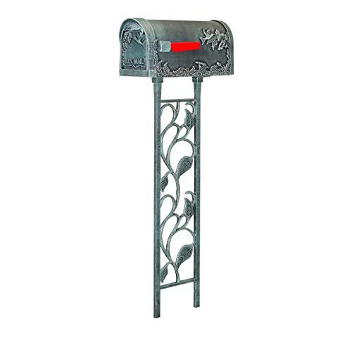 Hummingbird Curbside Mailbox with Floral Mailbox Post. Picture 1