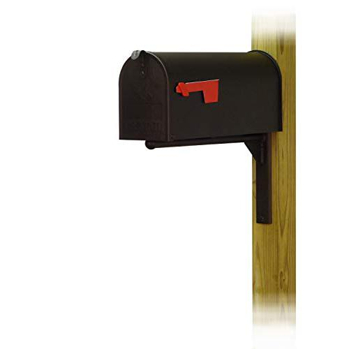 Standard Steel Curbside Mailbox with Ashley front single mailbox mounting bracket. Picture 1