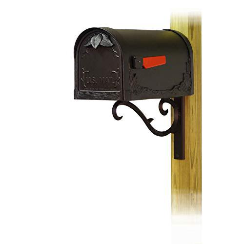 Floral Curbside Mailbox with Sorrento front single mailbox mounting bracket. Picture 1