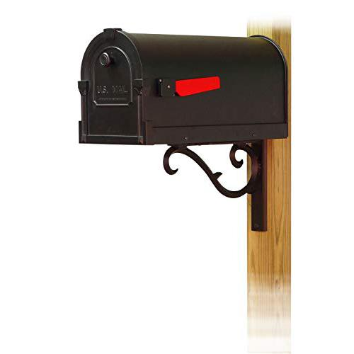 Savannah Curbside Mailbox with Sorrento front single mailbox mounting bracket. Picture 1