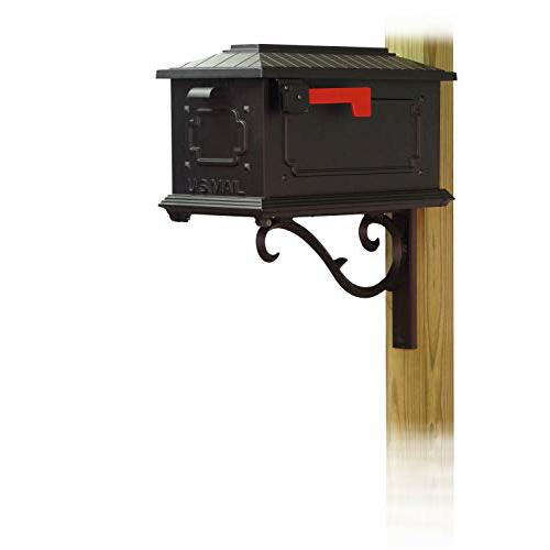 Kingston Curbside Mailbox with Sorrento front single mailbox mounting bracket. Picture 1