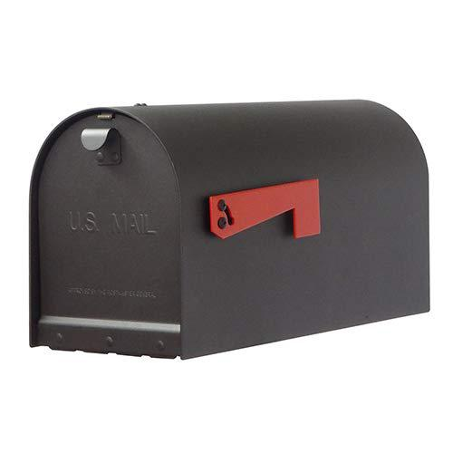 Titan Steel Curbside Mailbox with Baldwin front single mailbox mounting bracket. Picture 1