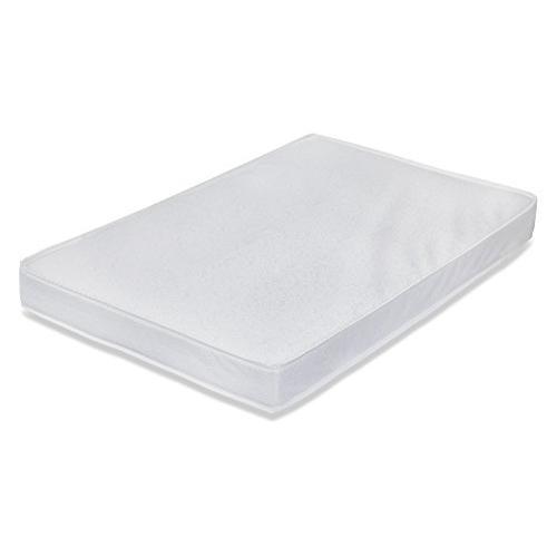 3-inch Mini/Portable  Laminated Crib Mattress, White. Picture 1