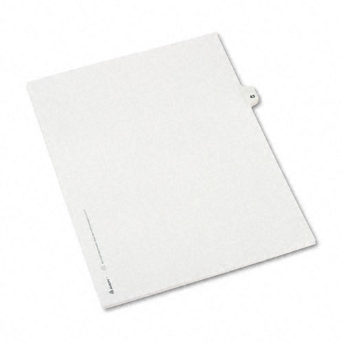 Preprinted Legal Exhibit Side Tab Index Dividers, Avery Style, 10-Tab, 43, 11 x 8.5, White, 25/Pack, (1043). Picture 2