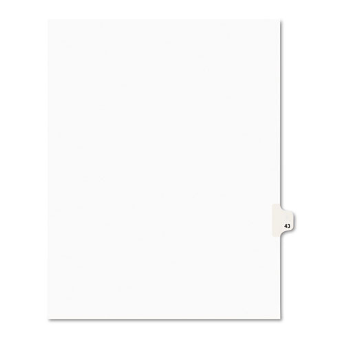 Preprinted Legal Exhibit Side Tab Index Dividers, Avery Style, 10-Tab, 43, 11 x 8.5, White, 25/Pack, (1043). Picture 1