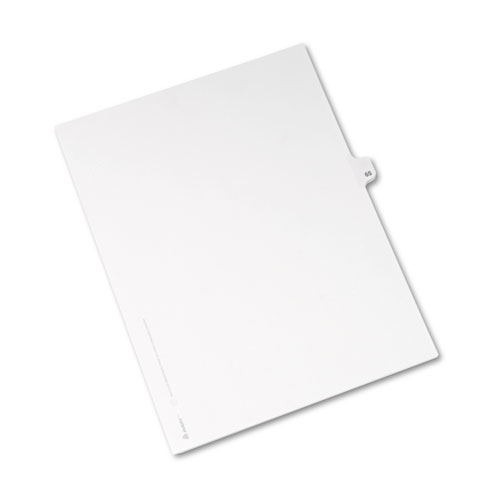 Preprinted Legal Exhibit Side Tab Index Dividers, Avery Style, 10-Tab, 65, 11 x 8.5, White, 25/Pack, (1065). Picture 2