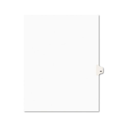 Preprinted Legal Exhibit Side Tab Index Dividers, Avery Style, 10-Tab, 65, 11 x 8.5, White, 25/Pack, (1065). Picture 1