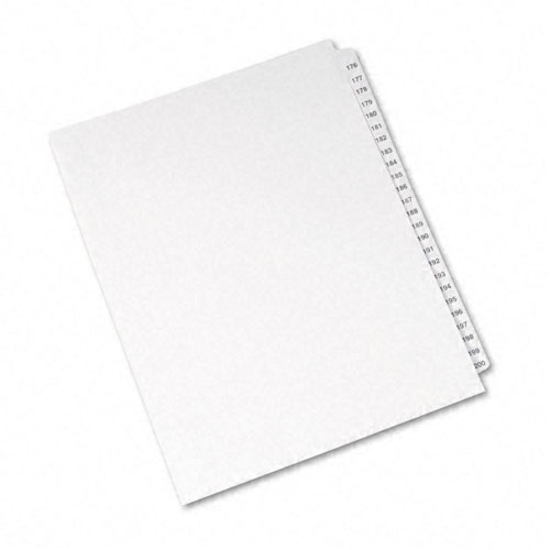 Preprinted Legal Exhibit Side Tab Index Dividers, Avery Style, 25-Tab, 176 to 200, 11 x 8.5, White, 1 Set, (1337). Picture 2