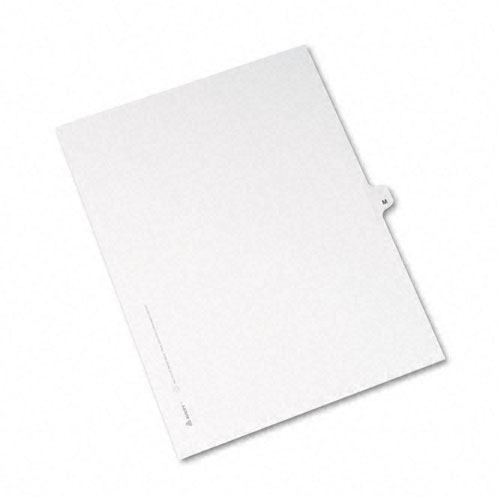 Preprinted Legal Exhibit Side Tab Index Dividers, Avery Style, 26-Tab, M, 11 x 8.5, White, 25/Pack, (1413). Picture 2