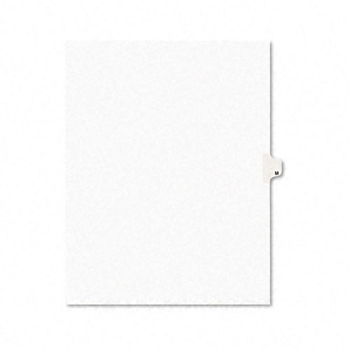 Preprinted Legal Exhibit Side Tab Index Dividers, Avery Style, 26-Tab, M, 11 x 8.5, White, 25/Pack, (1413). Picture 1