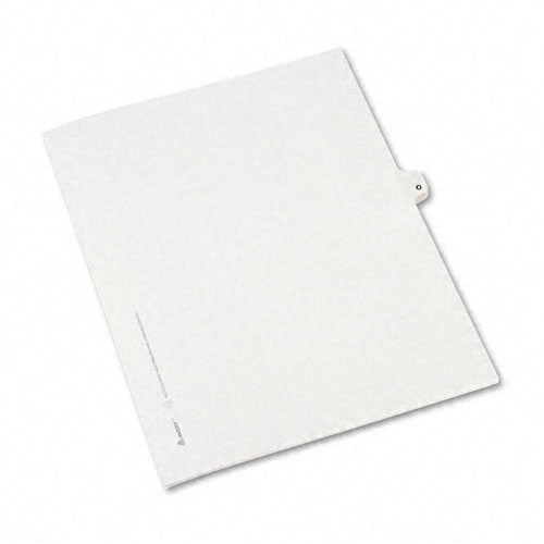 Preprinted Legal Exhibit Side Tab Index Dividers, Avery Style, 26-Tab, O, 11 x 8.5, White, 25/Pack, (1415). Picture 2