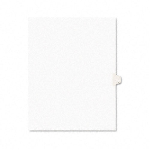 Preprinted Legal Exhibit Side Tab Index Dividers, Avery Style, 26-Tab, O, 11 x 8.5, White, 25/Pack, (1415). Picture 1