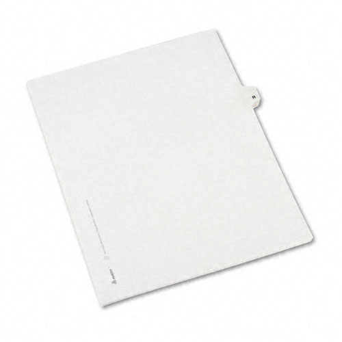 Preprinted Legal Exhibit Side Tab Index Dividers, Avery Style, 26-Tab, R, 11 x 8.5, White, 25/Pack, (1418). Picture 2