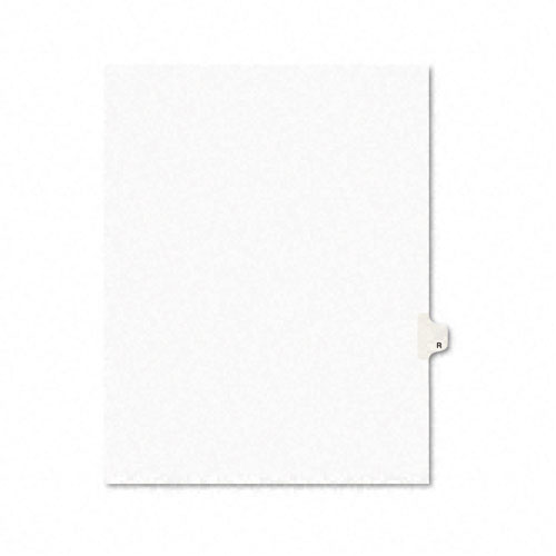 Preprinted Legal Exhibit Side Tab Index Dividers, Avery Style, 26-Tab, R, 11 x 8.5, White, 25/Pack, (1418). Picture 1