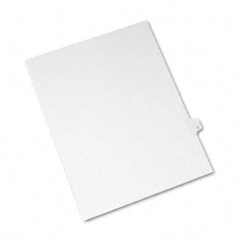 Preprinted Legal Exhibit Side Tab Index Dividers, Avery Style, 26-Tab, T, 11 x 8.5, White, 25/Pack, (1420). Picture 2