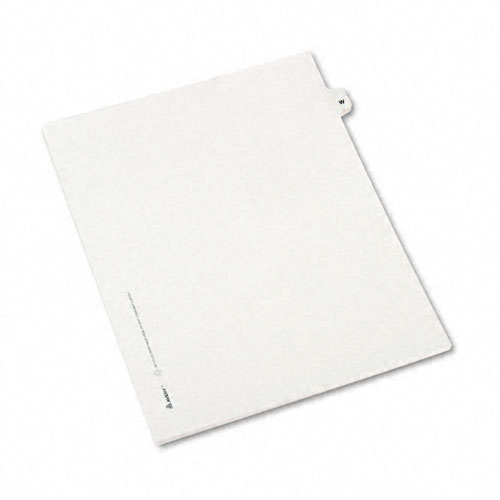 Preprinted Legal Exhibit Side Tab Index Dividers, Avery Style, 26-Tab, W, 11 x 8.5, White, 25/Pack, (1423). Picture 2