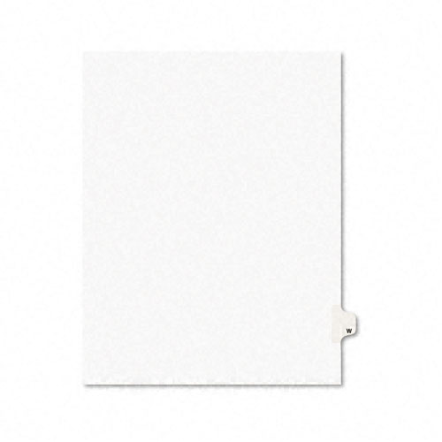Preprinted Legal Exhibit Side Tab Index Dividers, Avery Style, 26-Tab, W, 11 x 8.5, White, 25/Pack, (1423). Picture 1