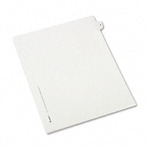 Preprinted Legal Exhibit Side Tab Index Dividers, Avery Style, 26-Tab, Y, 11 x 8.5, White, 25/Pack, (1425). Picture 2