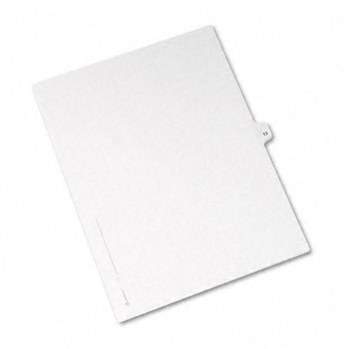 Preprinted Legal Exhibit Side Tab Index Dividers, Avery Style, 10-Tab, 13, 11 x 8.5, White, 25/Pack. Picture 2